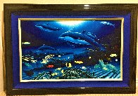 In the Company of Dolphins AP 2002 Embellished Limited Edition Print by Robert Wyland - 1