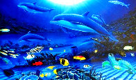In the Company of Dolphins AP 2002 Embellished Limited Edition Print by Robert Wyland - 3