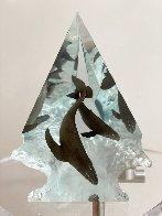 Light of Humpbacks Lucite Sculpture 2007 11 in Sculpture by Robert Wyland - 1
