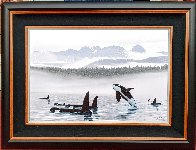 Misty Orca Waters 2008 Limited Edition Print by Robert Wyland - 1