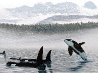Misty Orca Waters 2008 Limited Edition Print by Robert Wyland - 0