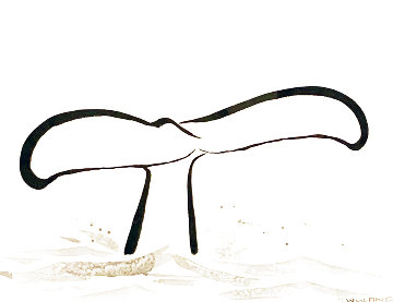 Untitled Sumi Ink Painting  2013 35x42 Works on Paper (not prints) - Robert Wyland