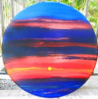 Pacific Sunset 36x36 Original Painting - Robert Wyland