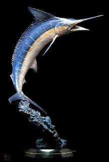 Large Marlin Bronze Scuplture AP 1993 67 in Sculpture - Robert Wyland