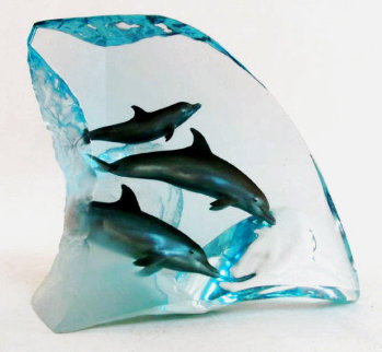 Dolphin Tribe 1999 AP 13 in Sculpture - Robert Wyland