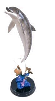 Dolphin Dream Bronze Sculpture 1999 32 in Sculpture - Robert Wyland
