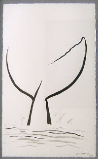 Whale Tail 2007 30x23 Original Painting - Robert Wyland