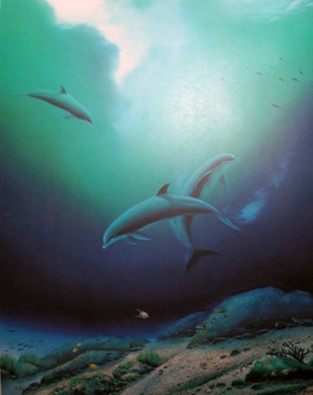 Children Of The Sea 1984 Limited Edition Print by Robert Wyland