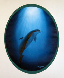 Dolphin Nation 1991 23x27 Original Painting by Robert Wyland