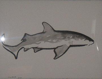 Nurse Shark 2007 47x40 Original Painting by Robert Wyland