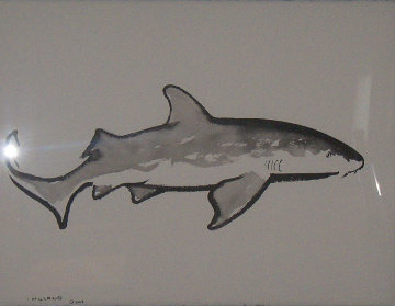 Nurse Shark 2007 47x40 Original Painting by Robert Wyland