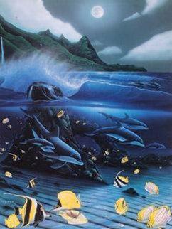 Hanalei Bay, Oahu, Hawaii 1996 Limited Edition Print by Robert Wyland