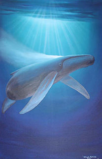 Breath of Life 1990 47x35 Super Huge Original Painting - Robert Wyland