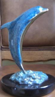 Dolphin Up Bronze Sculpture AP 1992 10 in Sculpture - Robert Wyland