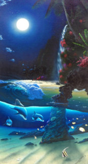 Island Paradise 1996 Huge 50x31 Huge Double Signed Limited Edition Print - Robert Wyland