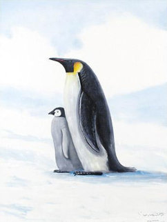 Antarctic Penguin 2005 Limited Edition Print - Robert Wyland