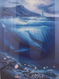 Full Moon 1988 Limited Edition Print by Robert Wyland