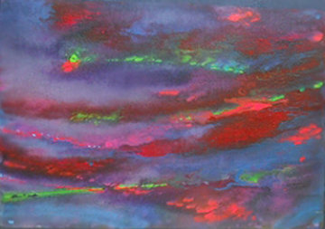 Abstract 3 Watercolor 2007 15x22 Watercolor - Robert Wyland
