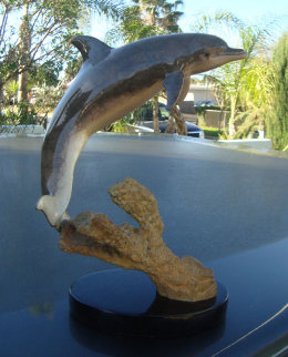 Day of the Dolphin Bronze Sculpture 1997 27 in Sculpture - Robert Wyland