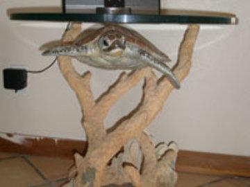 Turtle End Table Bronze Sculpture 1999 Sculpture - Robert Wyland