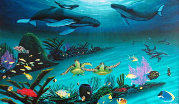 Deep Blue Planet 2008 Limited Edition Print by Robert Wyland
