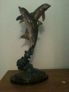 Ocean Friends Bronze Sculpture 1994 17 in Sculpture by Robert Wyland