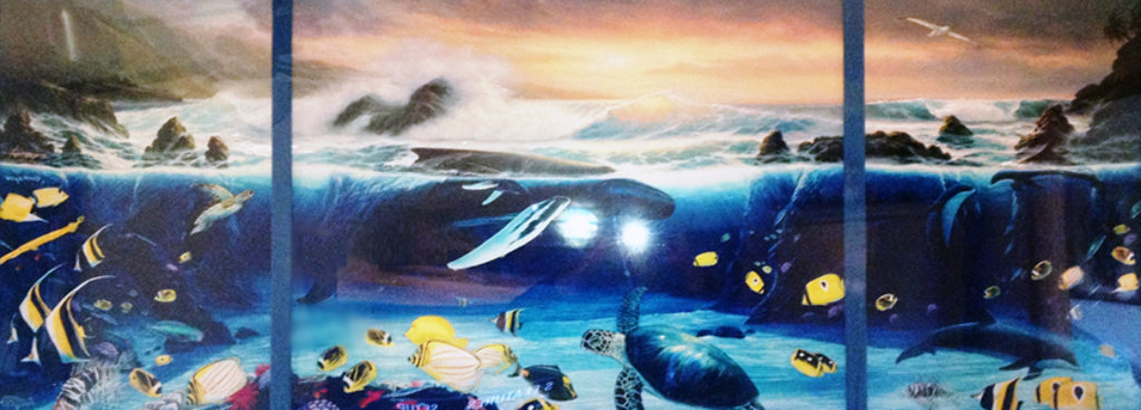 Ocean Trilogy (Triptych) AP 2001 Collaboration Embellished Limited Edition Print by Robert Wyland