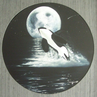 Orca Moon AP Limited Edition Print - Robert Wyland