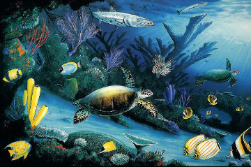 Living Reef, Cibachrome Diptych 1991 Limited Edition Print by Robert Wyland