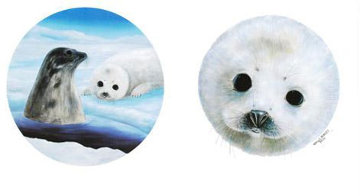 Save the Seals  Diptych 1990 Limited Edition Print by Robert Wyland