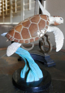 Ancient Mariner Bronze Sculpture 1999 Turtle 10 in Sculpture - Robert Wyland