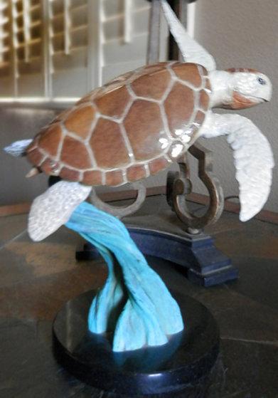 Ancient Mariner Bronze Sculpture 1999 Turtle 10 in Sculpture by Robert Wyland