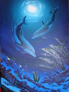Coral Reef Dance 2007 41x32 Original Painting by Robert Wyland