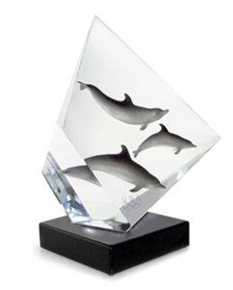 Faster Higher Stronger, Olympics Acrylic Sculpture 2007 12 in Sculpture - Robert Wyland