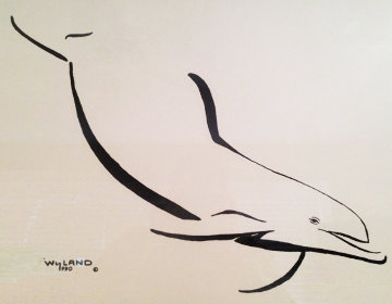 Dolphin Down  1990 Limited Edition Print by Robert Wyland