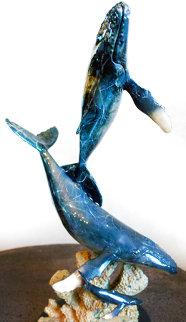 Humpback Life Bronze Sculpture AP 1998 22 in Sculpture - Robert Wyland