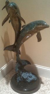 Synchronicity Maquette Bronze  Sculpture AP 1993 36 in  Sculpture - Robert Wyland