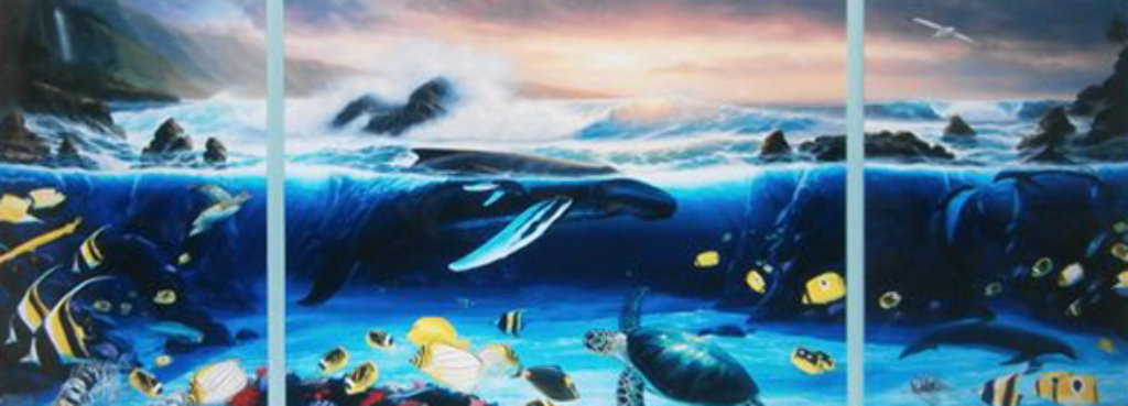 Ocean Trilogy 1992 48x84 Limited Edition Print by Robert Wyland