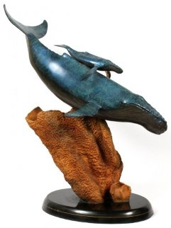 Innocent Age Bronze Sculpture 1991 31 inches Sculpture - Robert Wyland