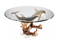 Reef Visit End Bronze Coffee Table 19x43 Sculpture - Robert Wyland