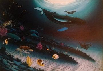 Under the Sea 2005 Embellished Super Huge Limited Edition Print - Robert Wyland