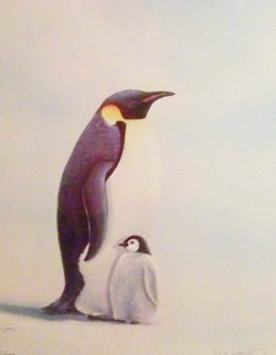 Penguins 1984 Limited Edition Print by Robert Wyland