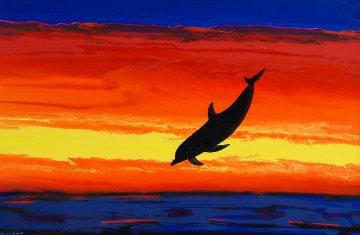 Captured Paradise 2004 32x45 Huge Original Painting - Robert Wyland