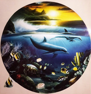 Dolphin Paradise 1989 Limited Edition Print - Robert Wyland