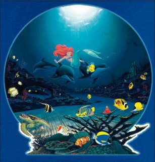 Ariel's Ocean Ride 2001 Limited Edition Print by Robert Wyland