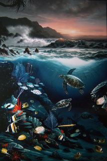 Above And Below 1989 Limited Edition Print by Robert Wyland