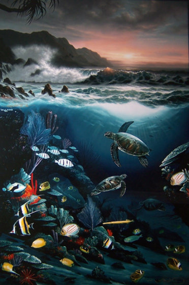 Above And Below 1989 By Robert Wyland