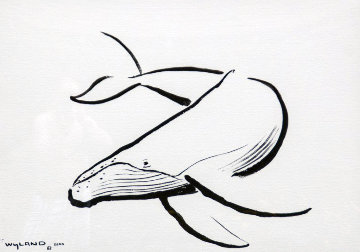Humpback Whale Unique 2000 34x43 Works on Paper (not prints) by Robert Wyland