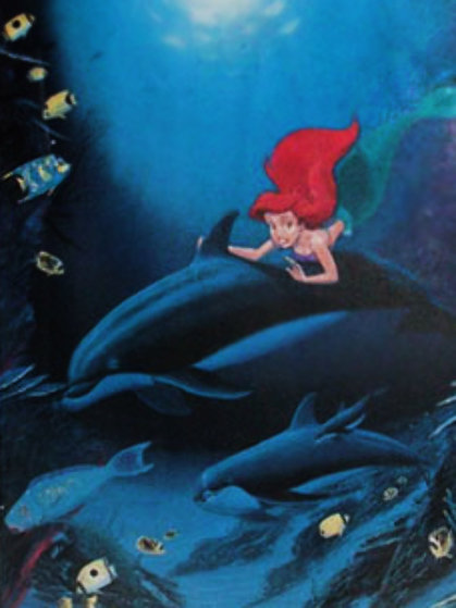 Ariel's Dolphin Ride 1994 Limited Edition Print by Robert Wyland