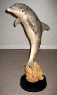 Day of the Dolphin Bronze Sculpture AP 1997 27 in Sculpture - Robert Wyland
